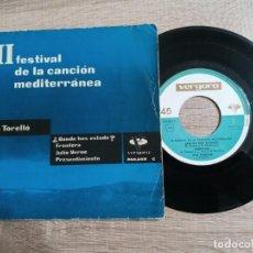 Discos de vinilo: LITA TORELLO.III FESTIVAL CANCION MEDITERRANEA.1961. Lote 243903140