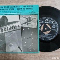 Discos de vinilo: MARCHAS E HIMNOS .HIMNO NACIONAL .PARACAIDISTAS.LEGIONARIO ETC BANDA MUSICA MILITAR MADRID.1959. Lote 243905875