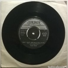 Discos de vinilo: CLAY COLE. TWIST AROUND THE CLOCK/ DON'T TWIST (WITH ANYONE ELSE BUT ME). LONDON, UK 1961 SINGLE. Lote 243914045