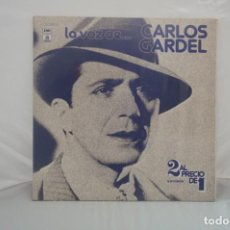 """Discos de vinilo: VINILO 12"""" - LP - LA VOZ DE... CARLOS GARDEL - EMI ODEON. Lote 243916620"""