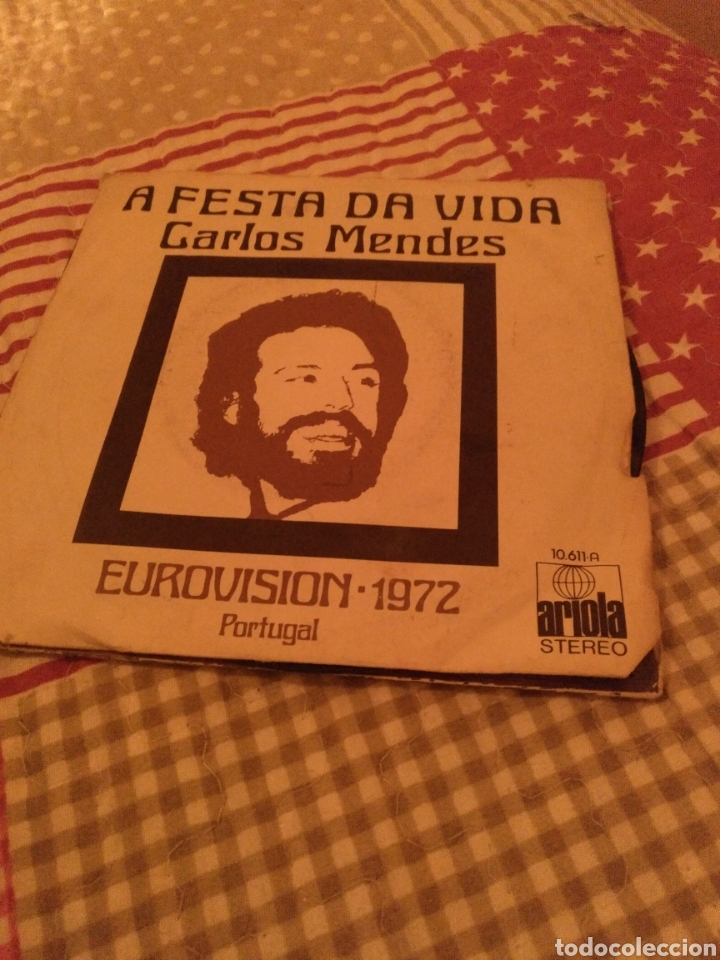 CARLOS MENDES (Música - Discos - Singles Vinilo - Festival de Eurovisión)