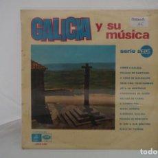 """Discos de vinilo: VINILO 12"""" - LP - GALICIA Y SU MUSICA / REGAL SERIE AZUL. Lote 243928835"""