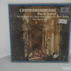 """Discos de vinilo: VINILO 12"""" - LP - CANTO GREGORIANO - MISA DE NAVIDAD - PATER MAURUS PFAFF / POLYDOR. Lote 243929385"""