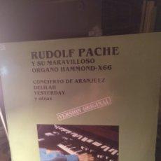 Discos de vinilo: RUDOLF PACHE. Lote 243930540