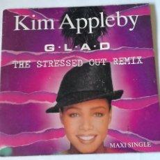 Discos de vinilo: KIM APPLEBY - G.L.A.D. (THE STRESSED OUT REMIX) - 1991. Lote 243944755