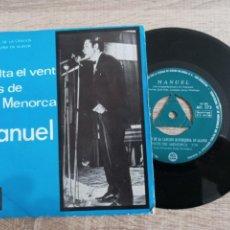 Discos de vinilo: MANUEL .III FESTIVAL CANCION MENORQUINA EN ALAYOR.1966. Lote 243945020