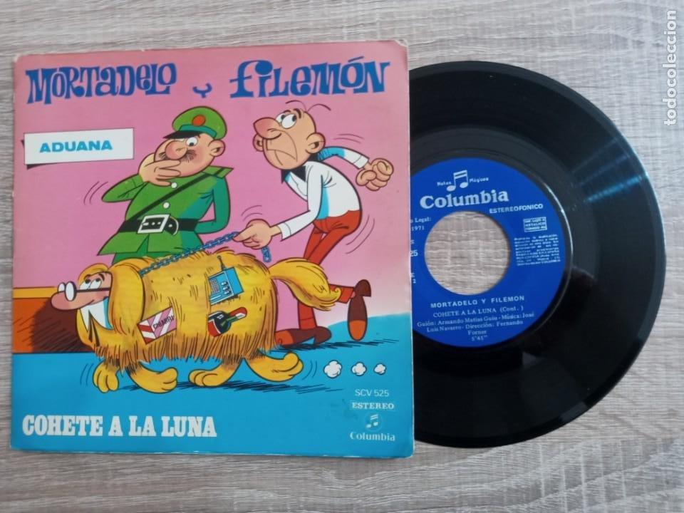 MORTADELO Y FILEMON .DISCO 1971.COHETE A LA LUNA. (Música - Discos - Singles Vinilo - Música Infantil)