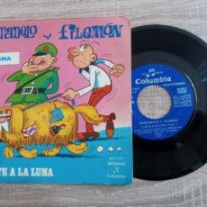 Discos de vinilo: MORTADELO Y FILEMON .DISCO 1971.COHETE A LA LUNA.. Lote 243955515