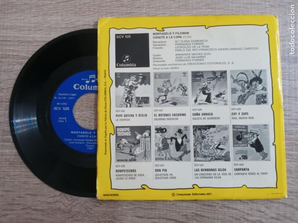 Discos de vinilo: MORTADELO Y FILEMON .DISCO 1971.COHETE A LA LUNA. - Foto 2 - 243955515