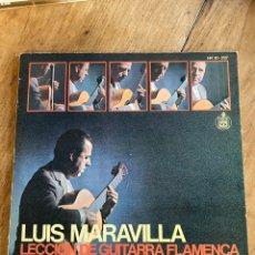 Discos de vinilo: VINILO LP LUIS MARAVILLA LECCIÓN DE GUITARRA FLAMENCA. Lote 243959755