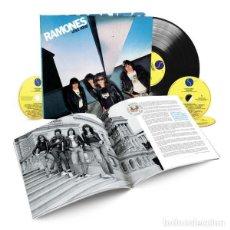 Discos de vinilo: RAMONES LEAVE HOME 40TH ANNIVERSARY DELUXE EDITION 3 CD+ VINILO + LIBRO. Lote 243960740