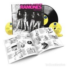 Discos de vinilo: RAMONES LEAVE HOME 40TH ANNIVERSARY DELUXE EDITION 3 CD+ VINILO + LIBRO. Lote 243961300