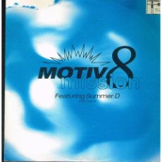 Discos de vinilo: MOTIV 8 FEATURING SUMMER AND CAPPA - MISSION - MAXI SINGLE 1992 - ED. UK. Lote 243962120