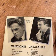 Discos de vinilo: VINILO MANUEL AUSENSI // CANCIONES CATALANAS. Lote 243971600