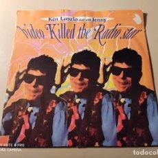 "Discos de vinilo: KEN LASZLO DUET WITH JENNY - VIDEO KILLED THE RADIO STAR (12""). Lote 243971750"