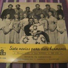 Discos de vinilo: EP SIETE NOVIAS PARA SIETE HERMANOS MGM 37030 BANDA SONORA. Lote 243985705