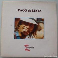 Discos de vinilo: PACO DE LUCIA - ZYRYAB (LP PHILIPS 1990) VINILO EN MUY BIEN ESTADO. Lote 243988985