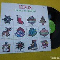 Discos de vinilo: LP ELVIS PRESLEY – CANTA A LA NAVIDAD - SPAIN PRESS - NL-90102 (EX+/EX++). Lote 243998680