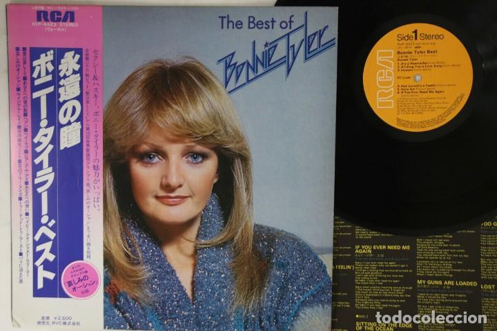 VINILO EDICIÓN JAPONESA DEL LP DE BONNIE TYLER - THE BEST OF BONNIE TYLER (Música - Discos - LP Vinilo - Pop - Rock - New Wave Internacional de los 80)