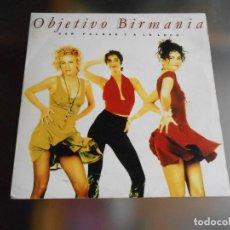 Discos de vinilo: OBJETIVO BIRMANIA, SG, CON FALDAS Y A LO LOCO, AÑO 1991 PROMO. Lote 244006720