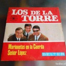 Discos de vinilo: DE LA TORRE, LOS, SG, MARIONETAS EN LA CUERDA + 1, AÑO 1967. Lote 244010500