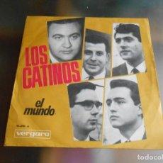 Discos de vinilo: CATINOS, LOS, SG, EL MUNDO (IL MONDO) + 1, AÑO 1965. Lote 244015640