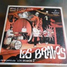 Discos de vinilo: BRAVOS, LOS, SG, BRING ´A LITTLE LOVIN´ + 1, AÑO 1967. Lote 244016685