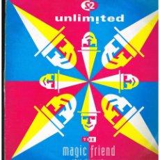 Discos de vinilo: 2 UNLIMITED - THE MAGIC FRIEND / MEGAMIX - MAXI SINGLE 1992 - ED. UK. Lote 244019680