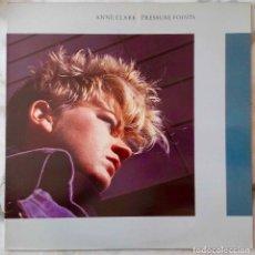Discos de vinilo: ANNE CLARK. PRESSURE POINTS. LP ESPAÑA 1985 CON FUNDA INTERIOR ORIGINAL VIRGIN. Lote 244020655