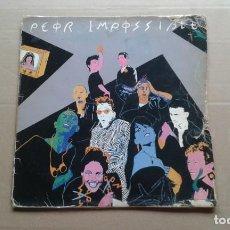 Discos de vinil: PEOR IMPOSIBLE - PELIGRO MAXI SINGLE 1984. Lote 244021910