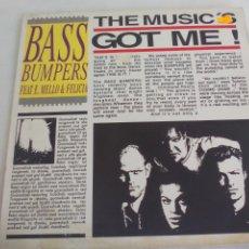 Discos de vinilo: BASS BUMPERS FEAT E. MELLO & FELICIA. THE MUSIC'S GOT ME. 1992. BOY RECORDS. BOY 130. Lote 244022370