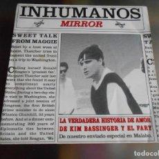 Discos de vinilo: INHUMANOS, LOS, SG, LA VERDADERA HISTORIA DE AMOR DE KIM BASSINGER Y EL FARY + 1, AÑO 1993 PROMO. Lote 244179995