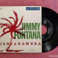 Discos de vinilo: EP JIMMY FONTANA - GUANTANAMERA / NON TE NE ANDARE +2 - RCA TP-293 - PORTUGAL PRESS (VG+/G++). Lote 244180305