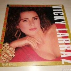 Discos de vinilo: MAXI SINGLE VICKY LARRAZ - SIETE NOCHES SIN TI. Lote 244184800