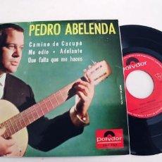 Discos de vinilo: PEDRO ABELENDA-EP CAMINO DE CACUPE +3-BUEN ESTADO. Lote 244185325