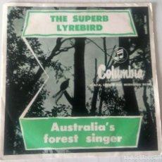 Discos de vinilo: PETER BRUCE - THE SUPERB LYREBIRD COLUMBIA EDIC. AUSTRALIANA - 1956. Lote 244185950