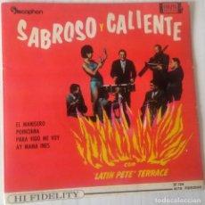 Discos de vinilo: LATIN PETE TERRACE - SABROSO Y CALIENTE COLPIX - 1962. Lote 244187205