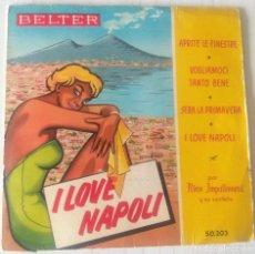 Discos de vinilo: NINO IMPALLOMENI Y SU SEXTETO - I LOVE NAPOLI BELTER - 1959. Lote 244190015