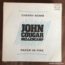 Discos de vinilo: JOHN COUGAR MELLENCAMP - CHERRY BOMB - 12'' MAXISINGLE MERCURY BRASIL 1988 PROMO. Lote 244190095