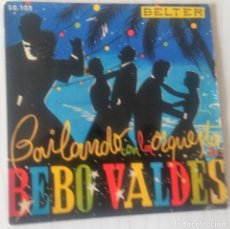 Discos de vinilo: BEBO VALDES Y SU ORQUESTA - BAILANDO CON LA ORQUESTA.. BELTER ¿AÑO?. Lote 244192845