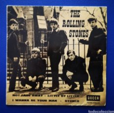 Discos de vinilo: THE ROLLING STONES - 1963 - NOT FADE AWAY - LITTLE BY LITTLE - I WANNA BE YOUR MAN - STONES. Lote 244193525