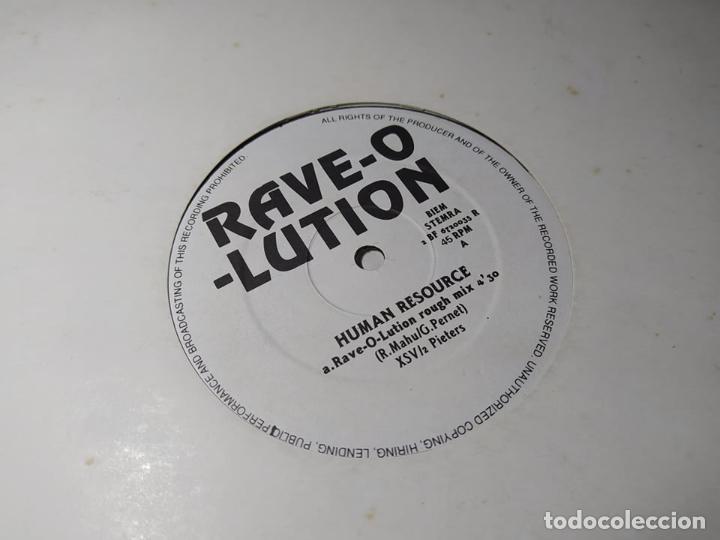 MAXI - HUMAN RESOURCE – RAVE-O-LUTION - 2 BF 6720035 R ( VG+ / VG+) HOLANDA 1992 (Música - Discos de Vinilo - Maxi Singles - Techno, Trance y House)