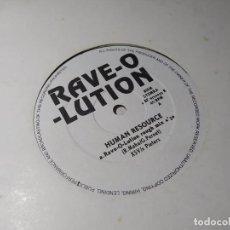 Discos de vinilo: MAXI - HUMAN RESOURCE – RAVE-O-LUTION - 2 BF 6720035 R ( VG+ / VG+) HOLANDA 1992. Lote 244199545