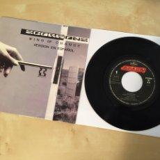 """Discos de vinilo: SCORPIONS - WIND OF CHANGE (VERSIÓN EN ESPAÑOL) - SINGLE PROMO RADIO 7"""" - 1990 ESPAÑA. Lote 244201345"""