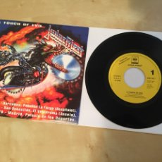 "Disques de vinyle: JUDAS PRIEST - A TOUCH OF EVIL - SINGLE PROMO RADIO 7"" - 1991 ESPAÑA - PAINKILLER. Lote 244203430"