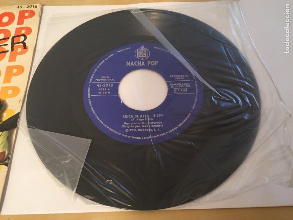 """Discos de vinilo: Nacha Pop - Chica De Ayer - SINGLE PROMO RADIO 7"""" - 1980 HISPAVOX - Foto 2 - 244204405"""