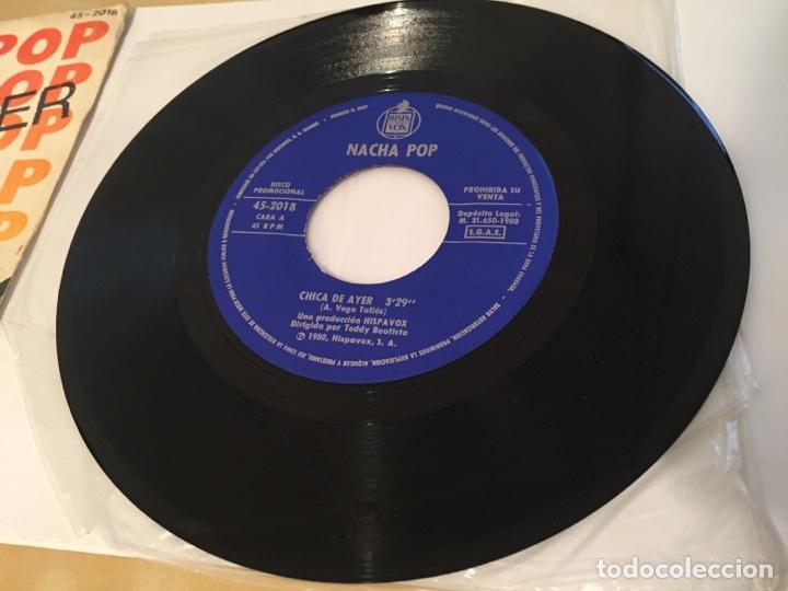 """Discos de vinilo: Nacha Pop - Chica De Ayer - SINGLE PROMO RADIO 7"""" - 1980 HISPAVOX - Foto 3 - 244204405"""