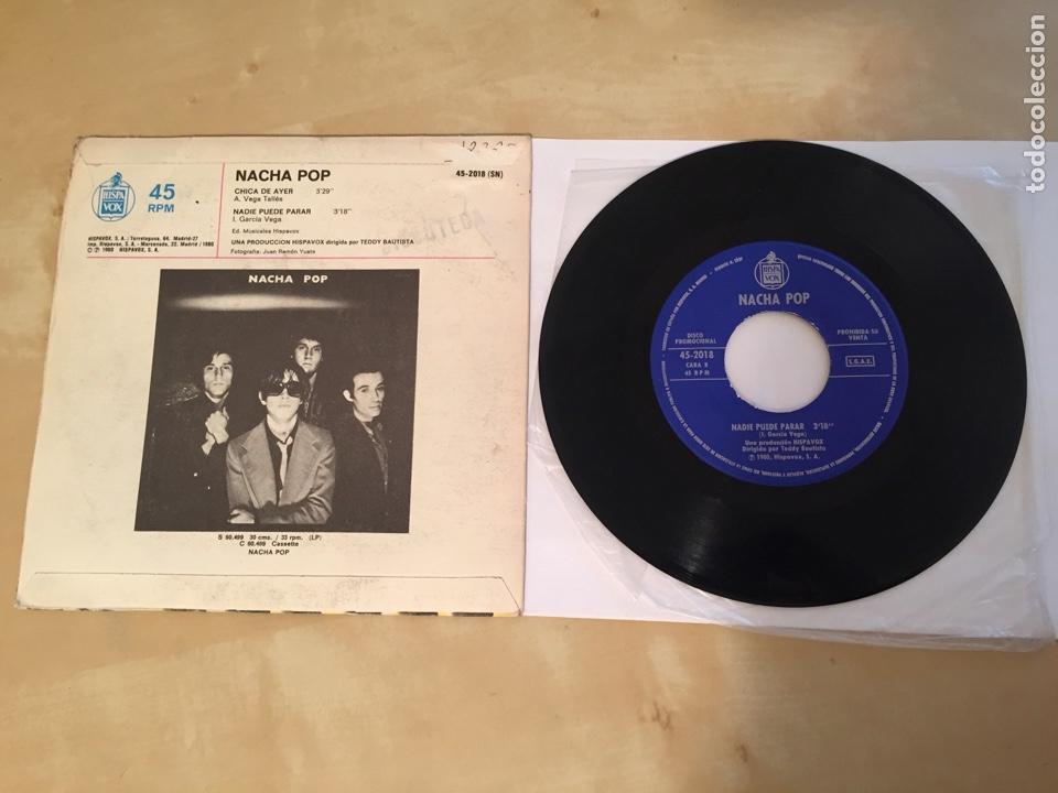 """Discos de vinilo: Nacha Pop - Chica De Ayer - SINGLE PROMO RADIO 7"""" - 1980 HISPAVOX - Foto 4 - 244204405"""