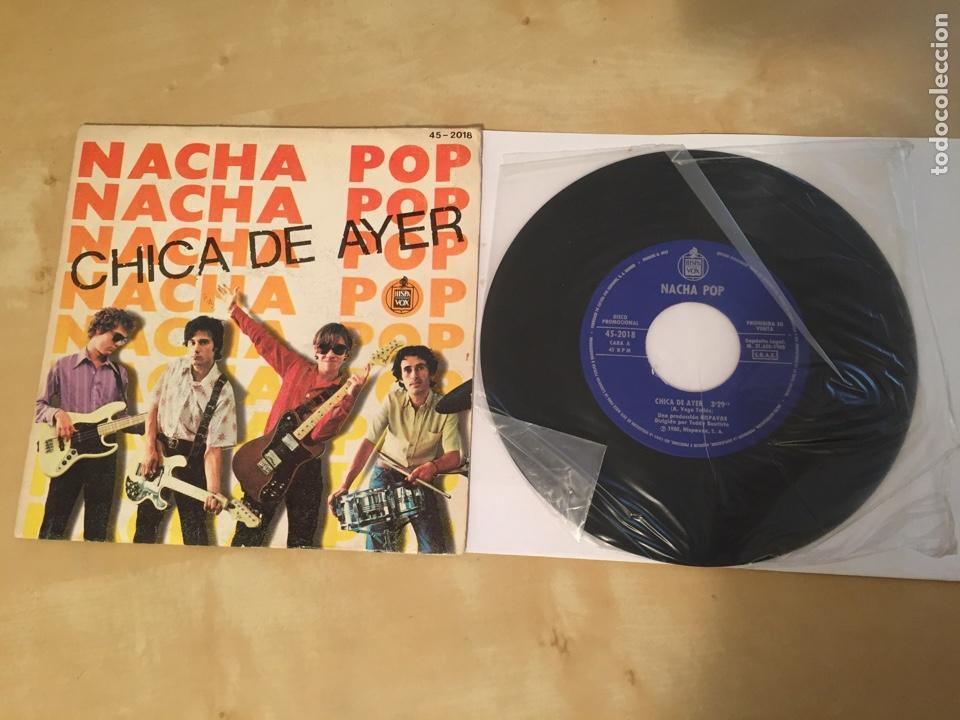 """NACHA POP - CHICA DE AYER - SINGLE PROMO RADIO 7"""" - 1980 HISPAVOX (Música - Discos - Singles Vinilo - Grupos Españoles de los 70 y 80)"""