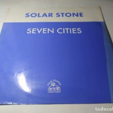 Discos de vinilo: MAXI - SOLAR STONE – SEVEN CITIES - HOOJ 85F ( VG+ / G) UK 1999. Lote 244219865